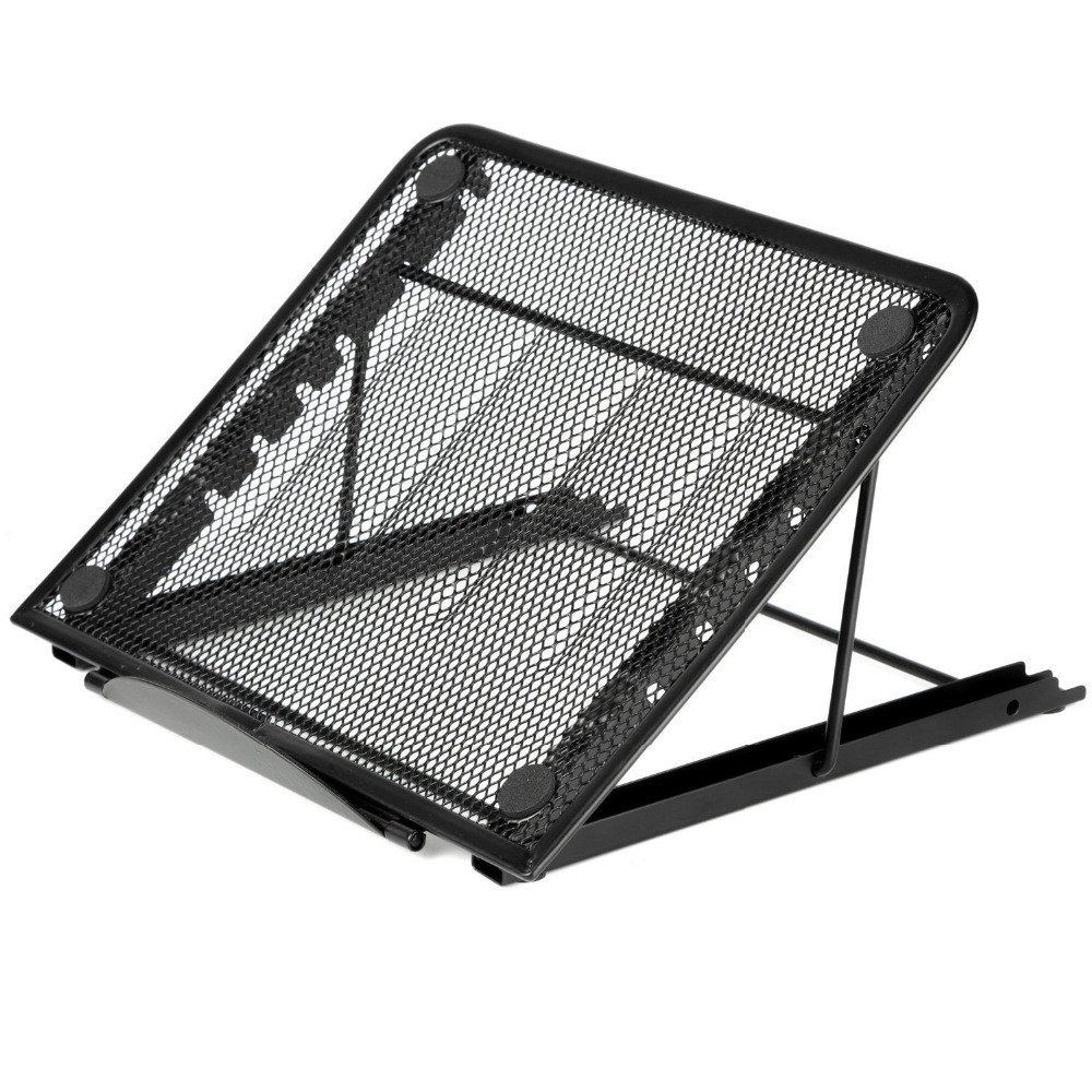 Office & School Supplies Temperate Portable Folding/adjustable Mesh Laptop Notebook/ Book/ipad Table /desk/ Tray /stand /cooling Stand,black Pleasant To The Palate
