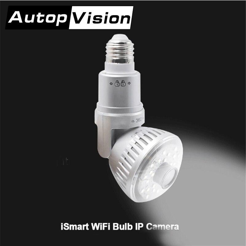 960 P lampe wifi caméra ampoule maison sécurité caméra ampoule blanc chaud jaune lumière maison sûre caméra connecter route argent or couleur
