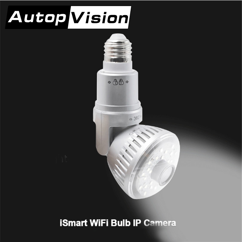 960P Lamp Wifi Camera Bulb Home Security Camera Bulb White Warm Yellow Light Home Safe Camera Connect Route Silver Gold Color