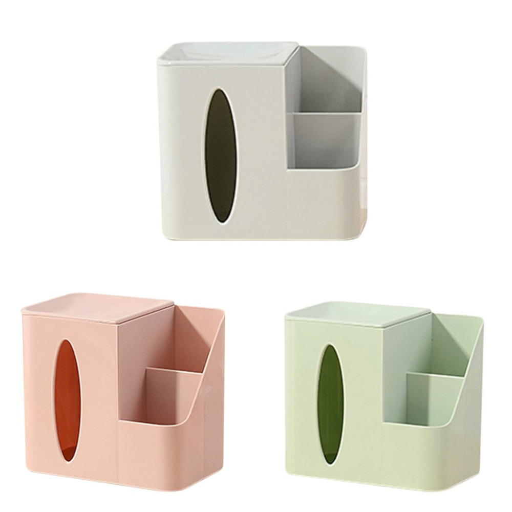 Multifunctional Tissue Box Napkin Holder Remote Control Mobile Phone Storage Box Organizer Office Home Desktop Table Case