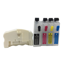 Refillable Ink Cartridge + QE-665 Chip Resetter For Brother LC203 LC205 LC207 LC211 LC213 LC215 LC217 LC223 LC225 LC227 LC233 refillable cartridge chip resetter for brother lc223 lc203 lc213 lc233 empty cartridge for brother mfc j4420dw mfc j5320dw