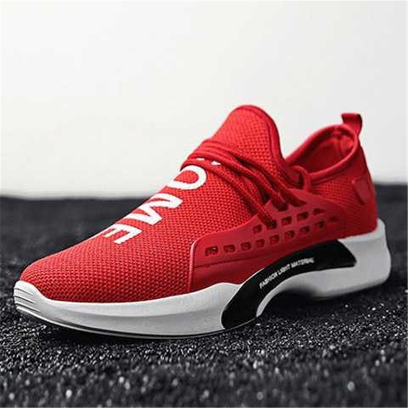 d93369bfe Men White Casual Shoes 2018 Autumn Breathable Human Race Sneakers Men  Walking Trainers Footwear Male Flat Shoes Tenis Feminino-in Men s Casual  Shoes from ...