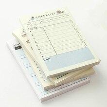 1 шт. Kawaii Еженедельный ежемесячный планировщик для работы Дневник для детей школьные принадлежности для студентов