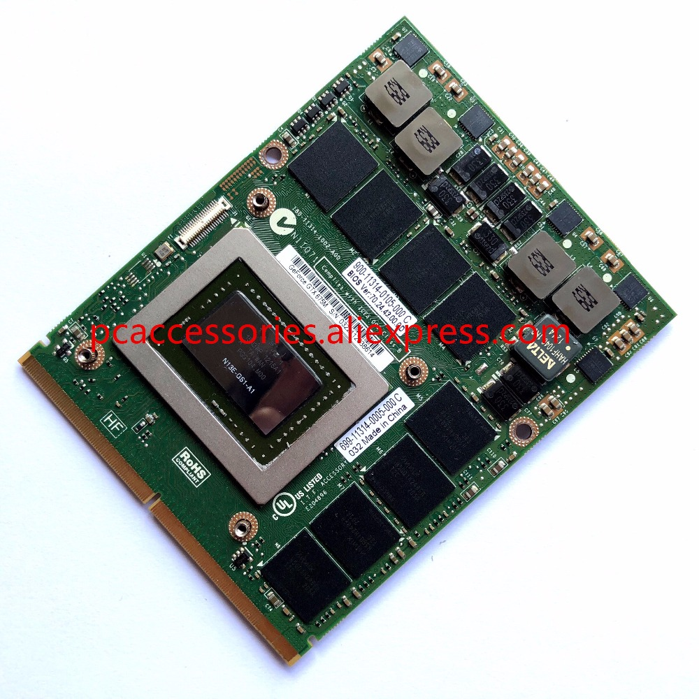 GTX675M GTX 675M 2G VGA Video Graphics Card 7W4GT HXD3N C0XGT For laptop Dell M6000 M6600 M6700 M6800 M15X M17x R2 R3 R4