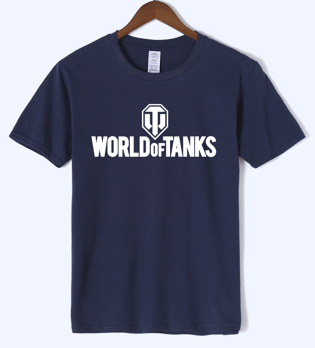 WORLD OF TANKS 2018 summer print T shirt cool undertale fashion font b men s b