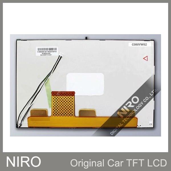 Ниро DHL Фирменная новинка автомобильный навигатор 8,0 дюймов AUO ЖК-дисплей Экран Панель C080VW02 V0 ЖК-дисплей Дисплей автомобильные запчасти