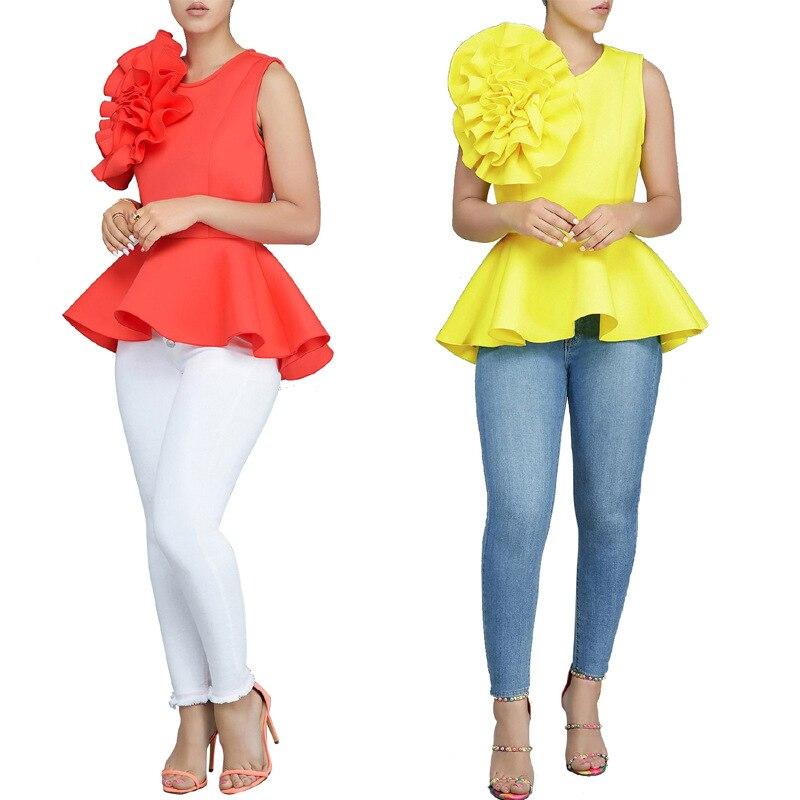 Search For Flights 2019 New Summer Shirts Fashion Big Ruffles Sleeveless Women Tops Tee Shirts Solid Lady Blouses Shirts Blouses & Shirts
