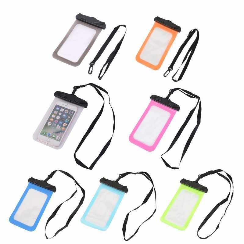 متعددة نمط صمام نوع للماء البسيطة حقيبة سباحة للهواتف الذكية تعمل باللمس حقيبة الهاتف الرعاية للماء الهاتف الحاويات