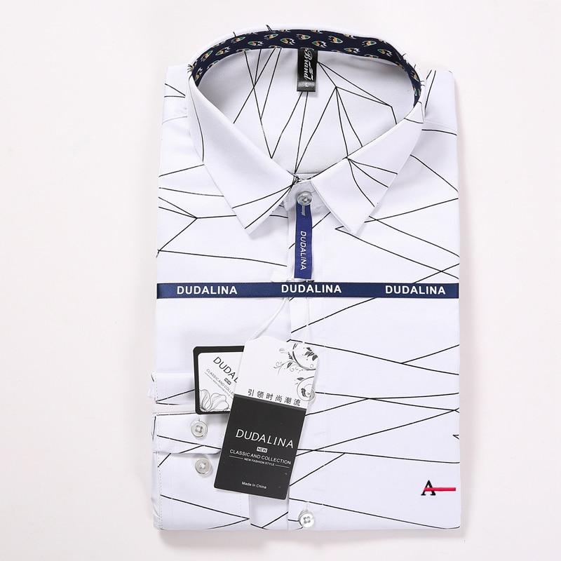 Dudalina Sergio K Camisa 2019 New Men Shirt Fashion Geometric Printing Male Casual Short Sleeve Shirt Plus Size Brand Men