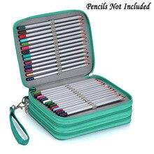 أكسفورد عقوبة مدرسة مقلمة حقيبة القلم الكبير 72 ثقوب pencelcase 3 طبقة صندوق رصاص الحقيبة للفتيات بنين الفن القرطاسية