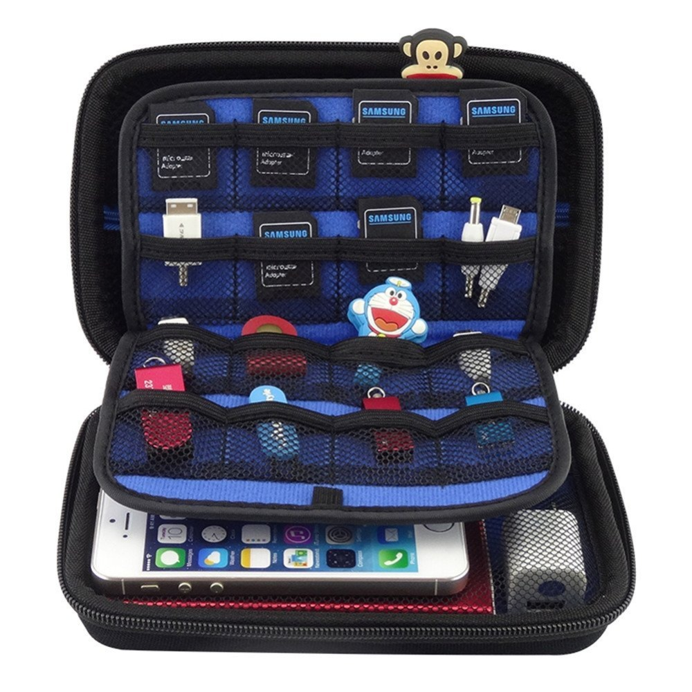 2.5 Inch SSD HDD Hard Drive Bag Earphone Cable USB Flash Drive Travel Case Digital Bag For Nintendo New 3DS XL/3DS