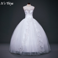 Free Shipping 2015 New Bridal White Wedding Dress Princess Wedding Gown Cheap Romantic Lace Up Bride
