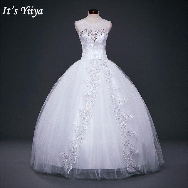 Free shipping 2017 new bridal white wedding dress princess wedding ...