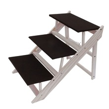 3 Steps Ladder For Dogs Puppy Cat Pet Stairs Anti Slip Foldable Portale Bed  Stairs
