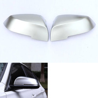 YAQUICKA 2Pcs Set Chrome Rearview Rear View Side Wing Mirror Cover Trim Styling For BMW 3