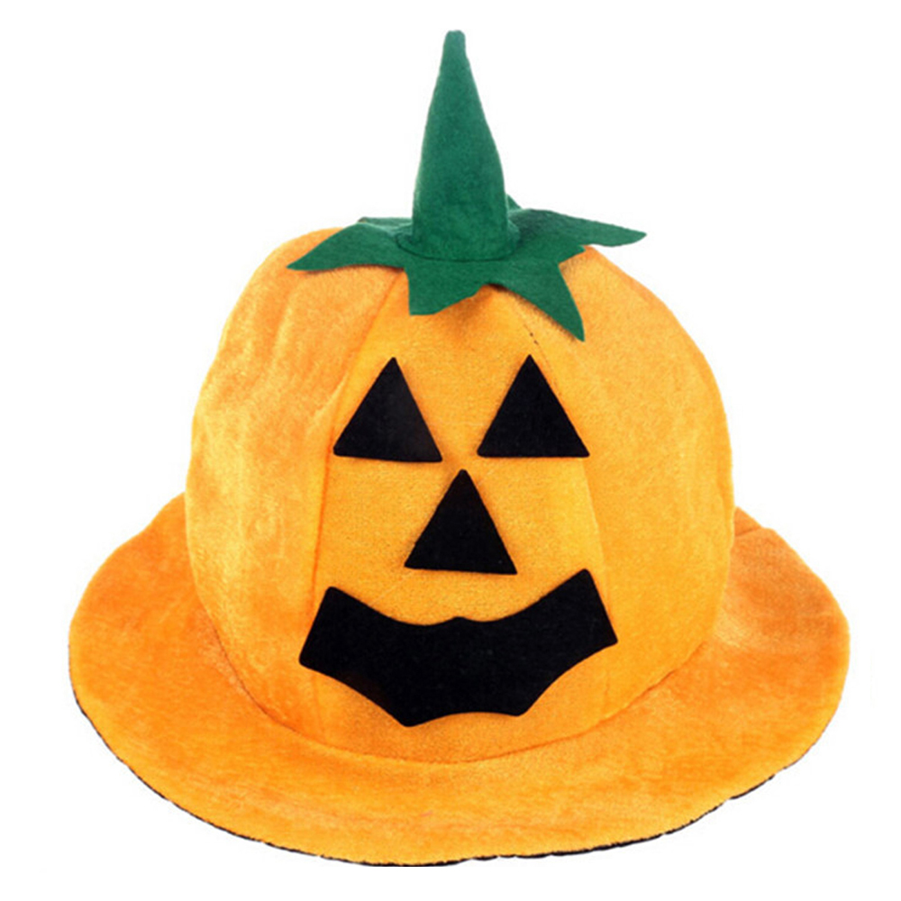Funny Pumpkin Design Hat for Masquerade Party Halloween Cosplay Costume Props Accessory Toy Gift