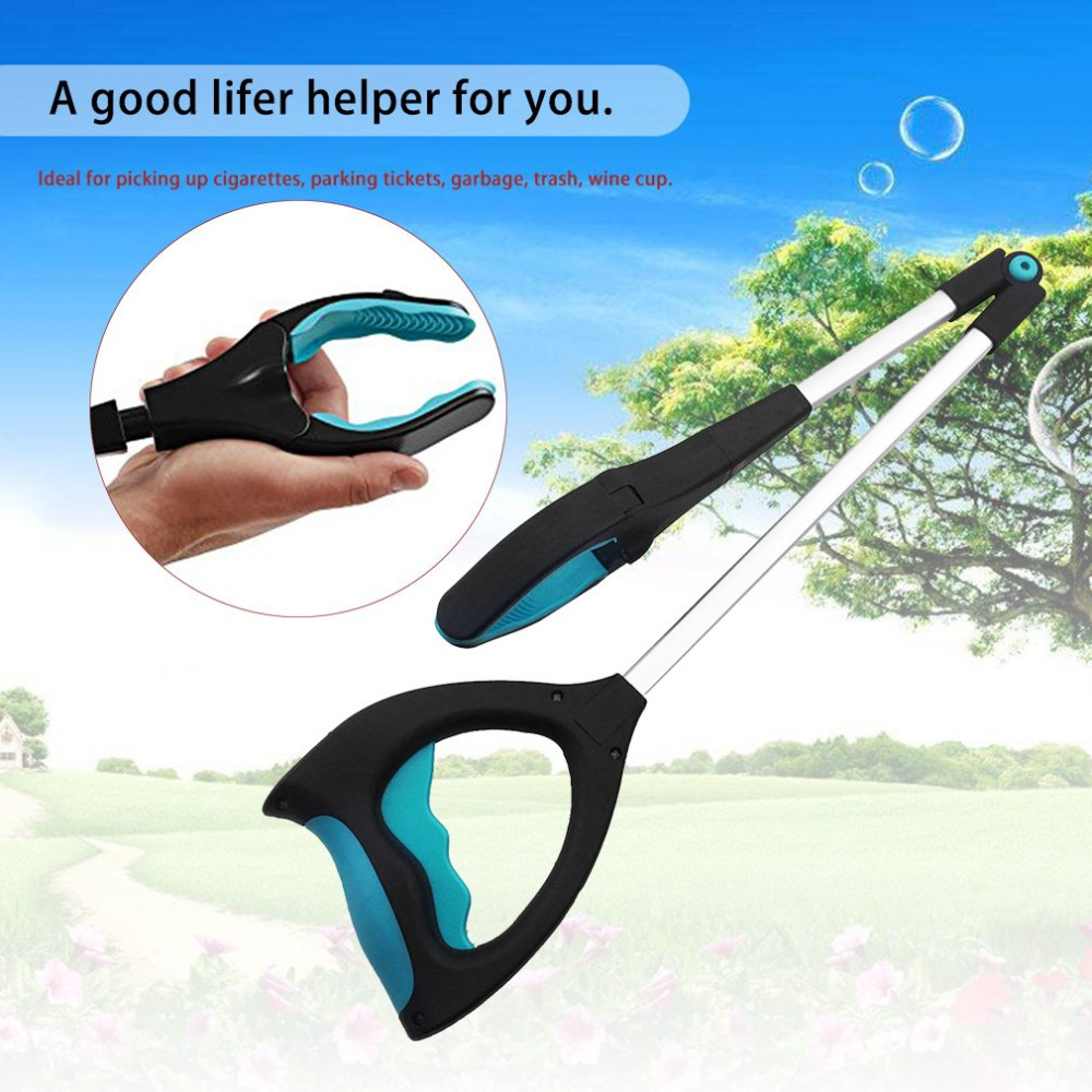Multipurpose Garbage Clip Metal Pickup Tools with LED Light Sanitation Device Folding Rubbish Shit Clamp Claw Hand Pliers