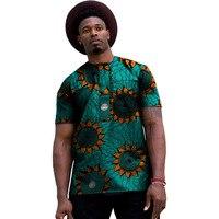 아프리카 옷 남성 다채로운 인쇄 t 셔츠 남성 아프리카 의류 여름 짧은 소매 탑 패치 워크 다시 키