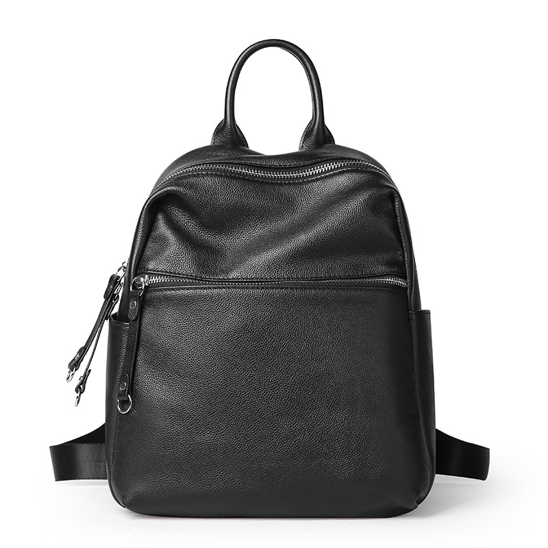 Women Backpacks New Korean Wild Fashion First Layer Leather Double Shoulder Bag Backpack Youth Women Soft Leather Student Bags qiaobao 2018 new korean version of the first layer of women s leather packet messenger bag female shoulder diagonal cross bag