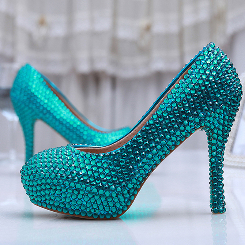 Online Buy Wholesale blue high heels from China blue high heels