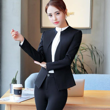Office Long Sleeve Blazer with Pants or Skirt