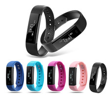 ID115 font b Smart b font Bracelet Fitness Tracker Step Counter Fitness Band Alarm Clock Vibration