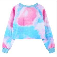 Cute PINK Crop Top Pullover Sweatshirts