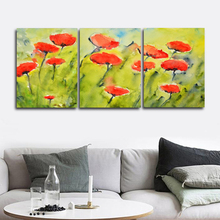 Laeacco Canvas Calligraphy Painting Watercolor Tulip Floral Wall Artwork Garden Posters and Prints Nordic Living Room Home Decor