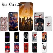 Мягкий силиконовый чехол для телефона RuiCaiCa Marvel Avengers Endgame captain Америка из ТПУ для iPhone 8 7 6 6 S 6 Plus X XS MAX 5 5S SE XR(China)
