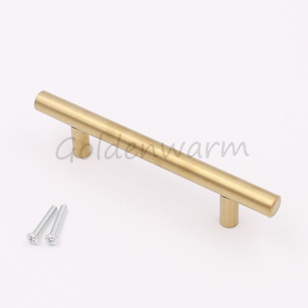 30 Pack Küchenschrank Griff Goldenwarm Gold Rund Bar Edelstahl ...