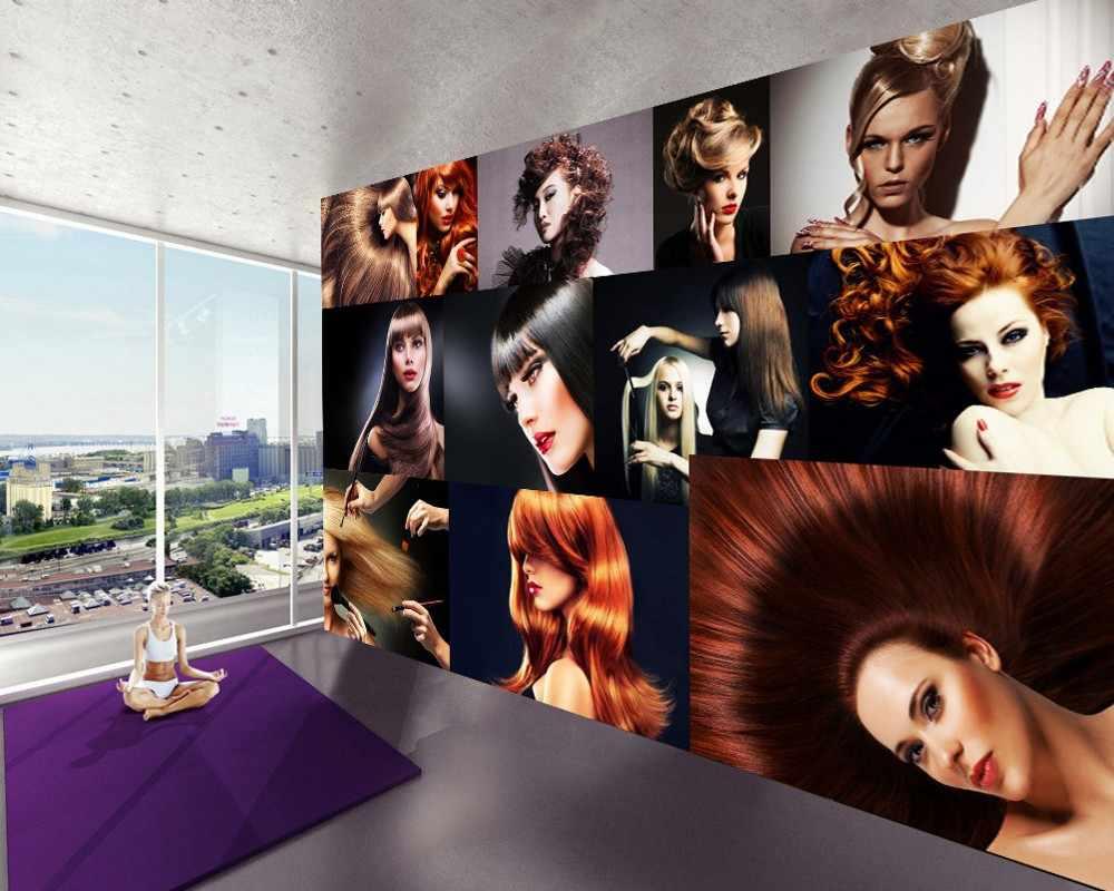 Ücretsiz Kargo Güzellik Salonu Saç Salon salonu duvar Kağıdı Moda Duvar Kağıdı Avrupa Tarzı Güzellik Saç Stili Saç Berber Dükkanı Özel 3D Duvar