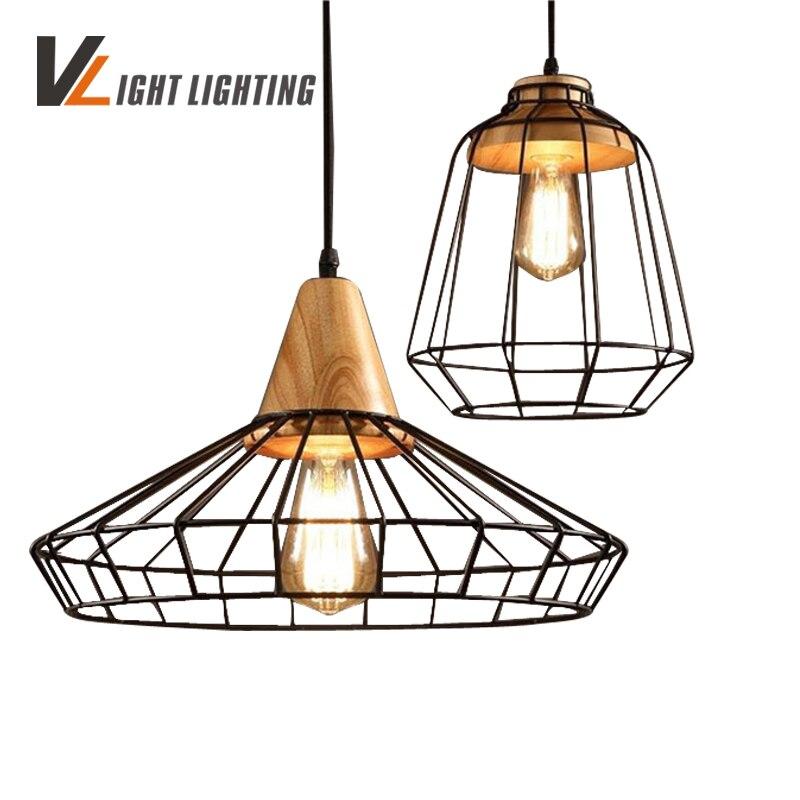 wood pendant lights lustres para sala de jantar loft style luminaria lustre de plafond hout