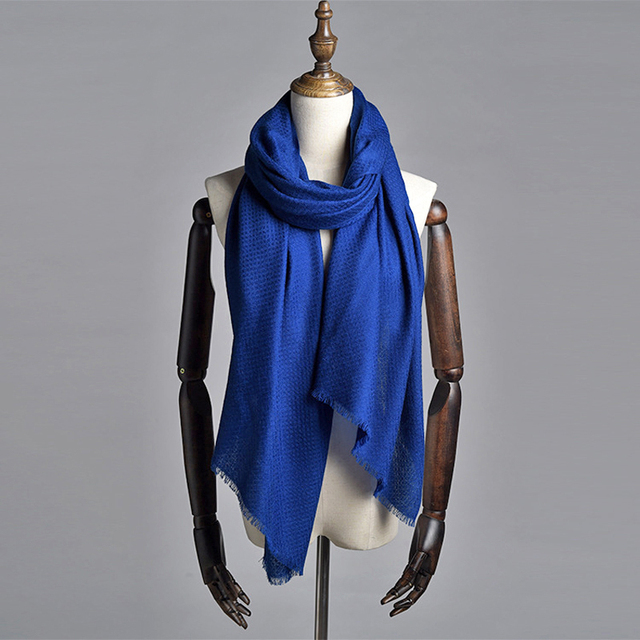 2016 Newest Brand Cashmere Scarf Women Blanket Pashmina Pure Color Wool Winter Shawls and Scarves