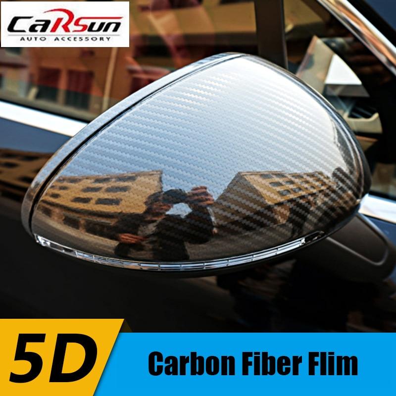 buy diy 30x152cm car sticker 5d high glossy carbon fiber film change color auto. Black Bedroom Furniture Sets. Home Design Ideas