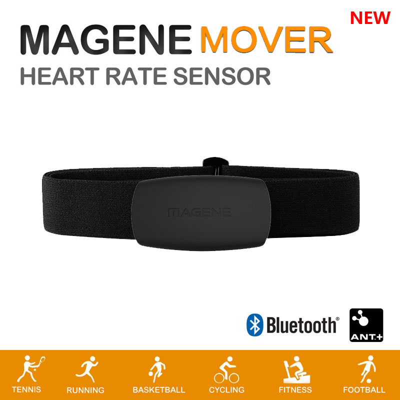 Bluetooth-4.0 Heart-Rate-Sensor Chest-Strap Cycling-Magene Ant  MHR10 with Dual-Mode