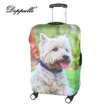 DOPPULLE Travel On Road Luggage Cover Elastic Thickenin Polyester Protective Suitcase Cover Trolley Case Dust Cover For 22~28In