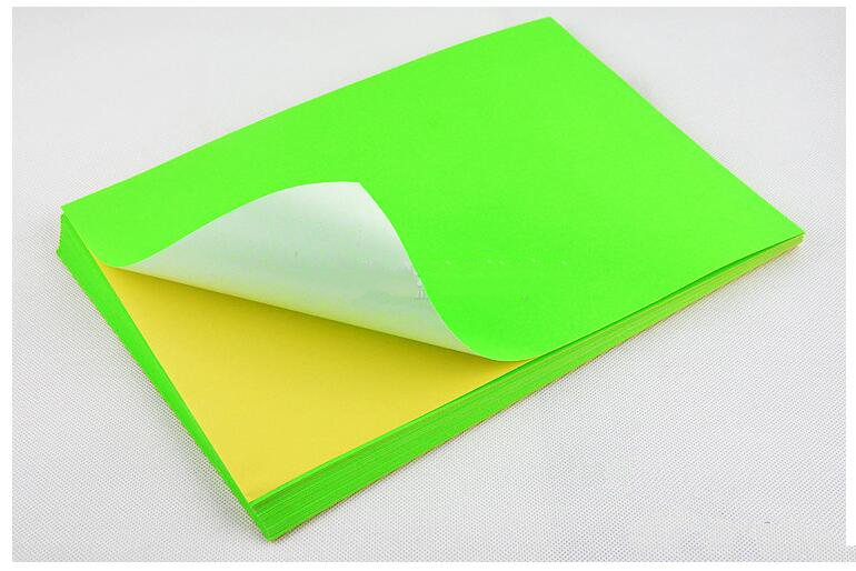 Image 2 - Network Fluorescence Labels Sticker 50 Sheets  A4 Size Matte Self Adhesive Label Sticker Printer Paper for Laser inkjet printing-in Stationery Stickers from Office & School Supplies