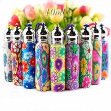 5 Stks/partij 6Ml 10Ml Glazen Roll Op Flessen Lege Polymeer Klei Parfum Roller Fles Essentiële Olie Flesjes Hervulbare