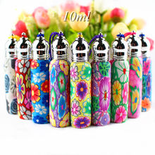 5pcs/lot 6ml 10ml Glass Roll On Bottles Empty Polymer Clay Perfume Roller Bottle Essential Oil Vials Refillable