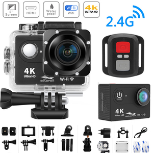 Image 1 - Action Camera H9R Ultra HD 4K WiFi Remote Control Sports Video Recording Camcorder DVR DV go Waterproof pro Mini Helmet Camera