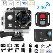 عمل كاميرا H9R الترا HD 4K واي فاي التحكم عن بعد الرياضة تسجيل الفيديو كاميرا DVR DV الذهاب مقاوم للماء برو كاميرا خوذة صغيرة