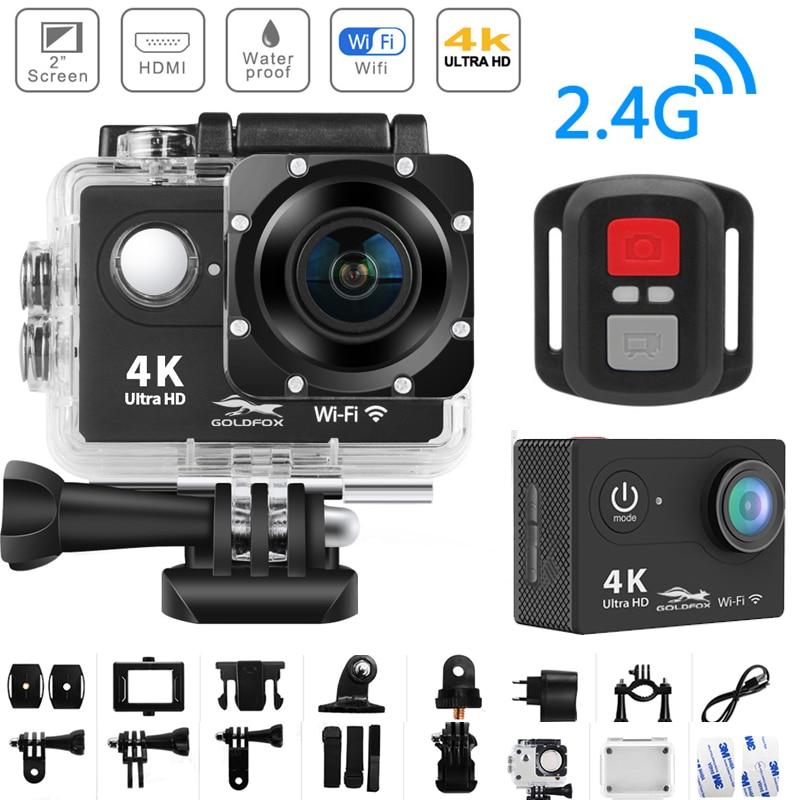 Câmera de Ação ir à Prova Ultra wi fi Controle Remoto Esportes Gravação Vídeo Filmadora Dvr dv Ddv Água Pro Mini Capacete Câmera H9r hd 4 k