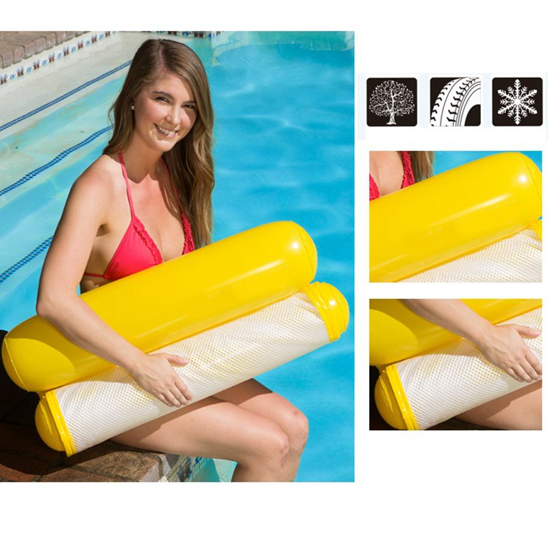 New Summer Floating Water Hammock Float Lounger Inflatable Floating Bed Beach Swimming Pool Lounge Float Bed Chair Kids Adults