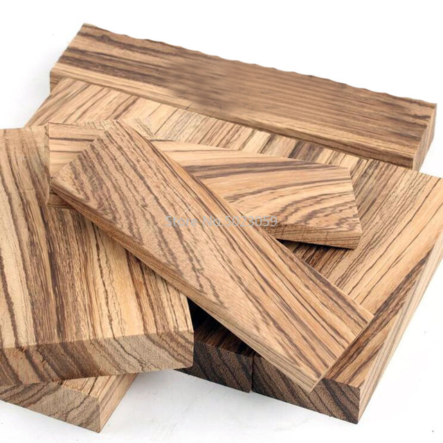 1piece DIY Knife Handle Material Zebra Wood (Microberlinia Brazzavillensis) Spoon Making Materials Home Handicraft Materials