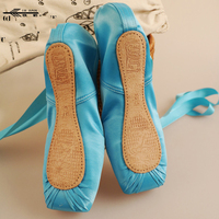 New Arrivals Colorful Ballet Dance Toe Shoes Professional Ladies Satin Pointe Shoes/Ballet Shoes Pointe