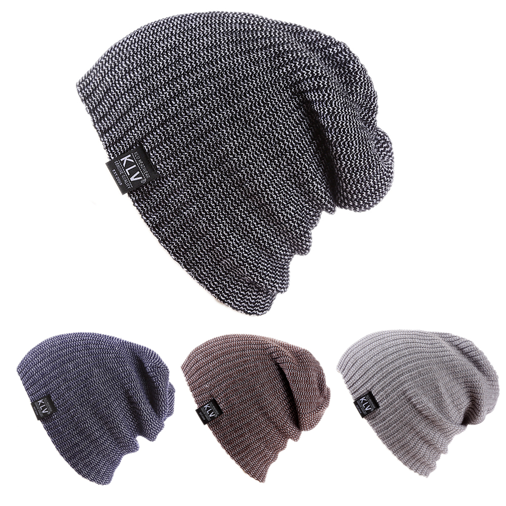 90eb231e5b5 Aliexpress.com   Buy Winter Cap Fashion Slouch Slouchy Beanie Knitting Warm  Skull Snowboard Cap Unisex Hat Outdoors Solid Elastic Beanie Hedging Hats  from ...