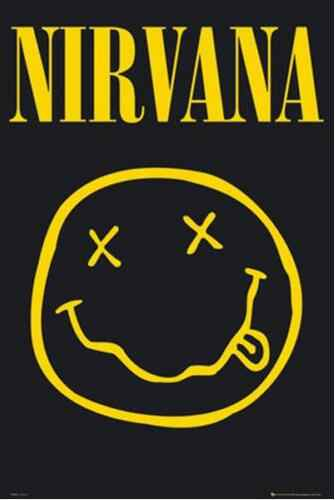 NIRVANA SMILEY  SILK POSTER Decorative Wall paint 24x36inch