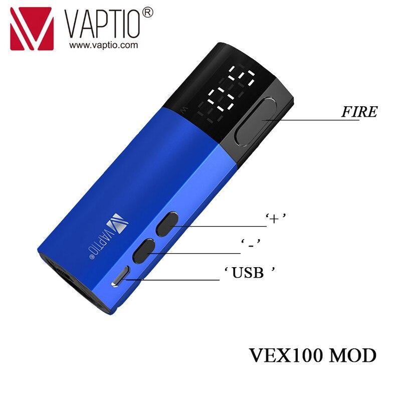 510 fil Vape Mod alimenté par 21700/20700/18650 batterie cigarette électronique Vaptio VEX100 boîte Mod Fit E Cigarette Vaper vapeur