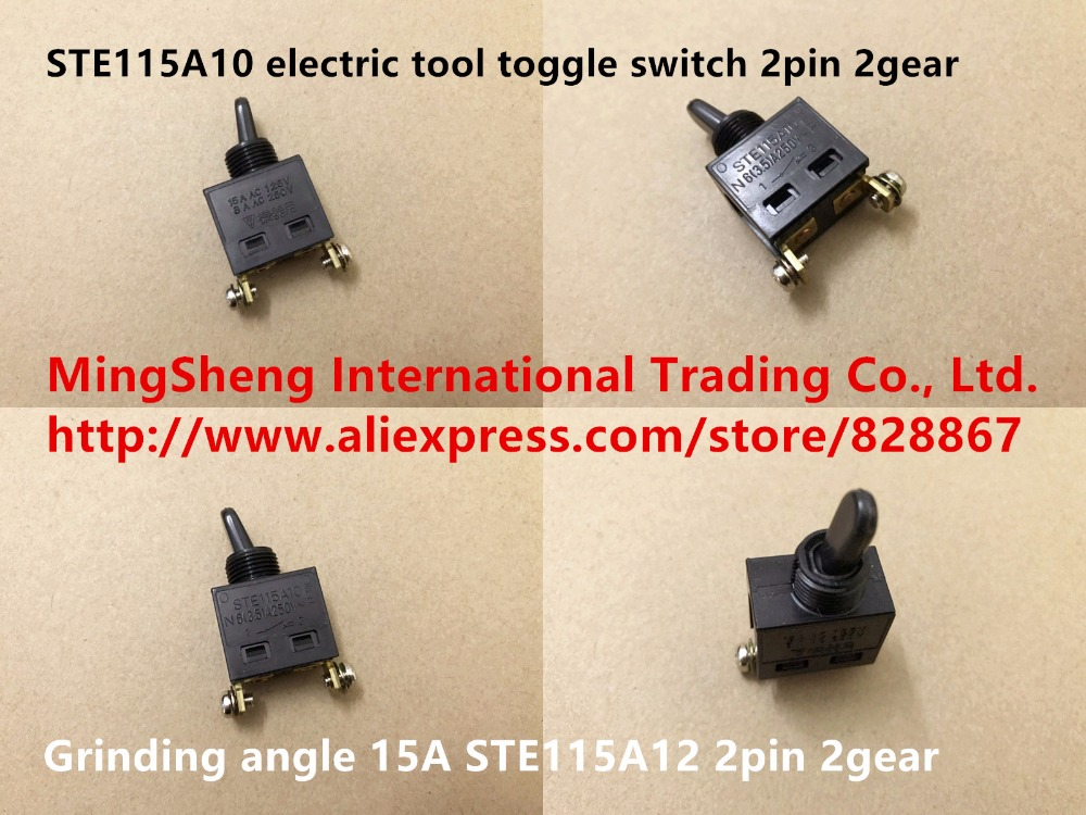 Original New 100% Japan Import STE115A10 STE115A12 Electric Tool Toggle Switch 2pin 2gear Grinding Angle 15A