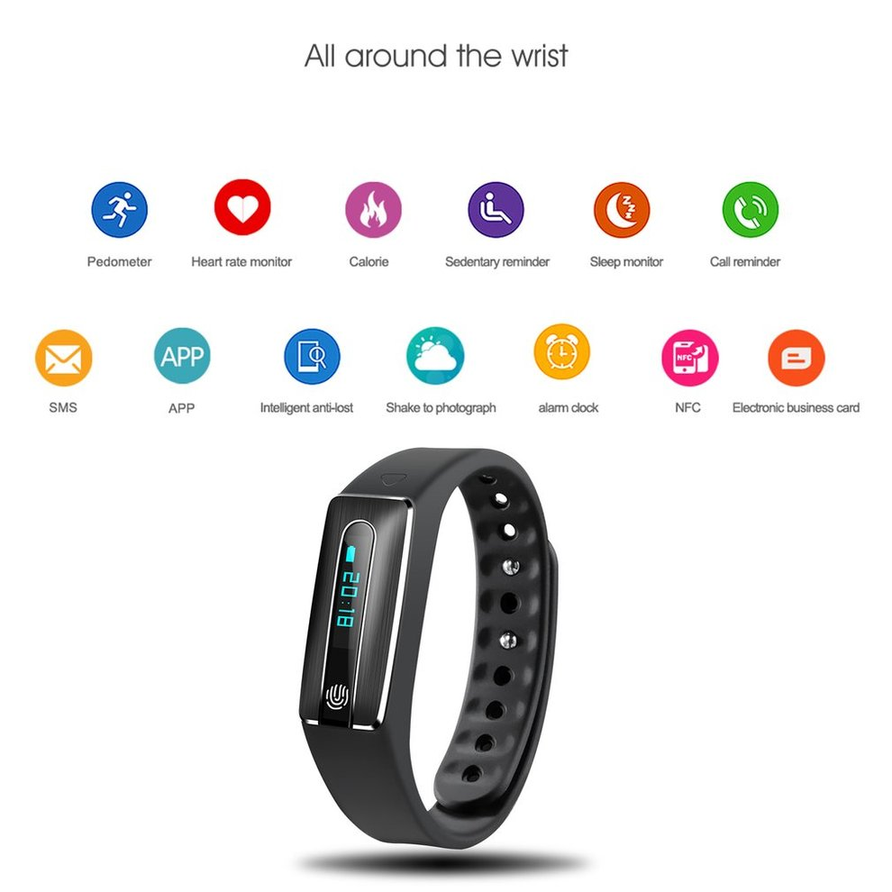 5PCS Smart Bracelet Fitness Watch Alarm Clock Step Counter Bluetooth Sports Wristband  Waterproof Health Monitor Wristbands